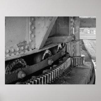 Industrial Photo - Bridge Turning Mechanism Gear Poster