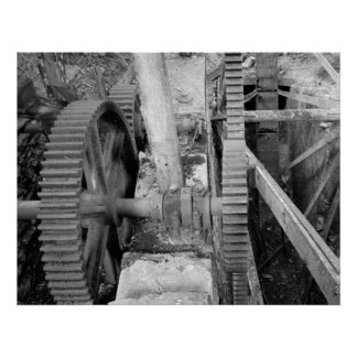 Industrial Photo - Grist Mill Transmission Gear Poster