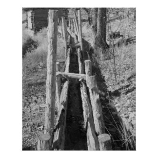 Industrial Photo - Grist Mill Water Trough Posters