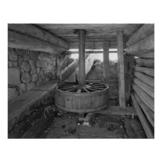 Industrial Photo - Grist Mill Water Wheel Poster