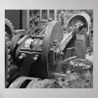Industrial Photo - Headhouse Steam Piston Print