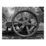 Industrial Photo - Oil Pumping Jack Reduction Gear Print