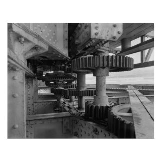 Industrial Photo - Railroad Bridge Turning Gear Poster