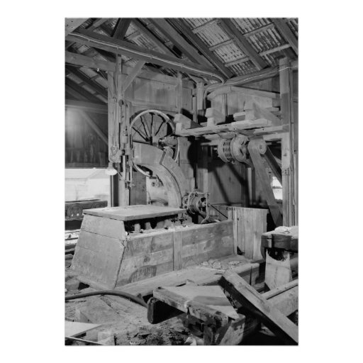 Industrial Photo - Sawmill Band Saw Print