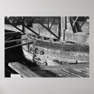 Industrial Photo - Shaw's Cove Bridge Poster