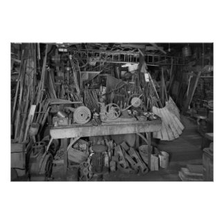 Industrial Photo: Windmill Factory Blacksmith Shop Poster