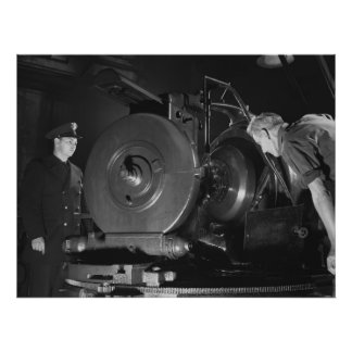 Industrial Photo - WW2 American Military Factory Poster