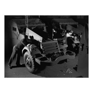 Industrial Photo - WW2 Half Track Scout Cars Print