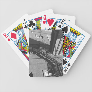 industrial photography bicycle playing cards