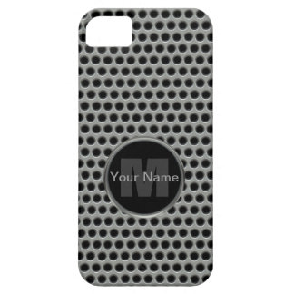 Industrial Pierced Metal Look in Greys and Black iPhone SE/5/5s Case