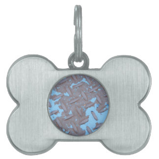 Industrial Playground: Blue Pet ID Tag