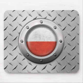 Industrial Polish Flag with Steel Graphic Mouse Pad
