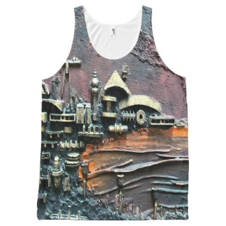 Industrial Port-part 1 by rafi talby All-Over-Print Tank Top
