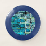 Industrial Quilt Colorful Blue Frisbee