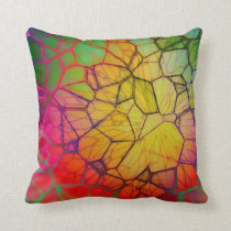 Industrial Rainbow Style Throw Pillow