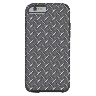 Industrial Raw Steel Diamond Plate Print Tough iPhone 6 Case
