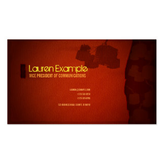 Industrial Red Textured Business Card