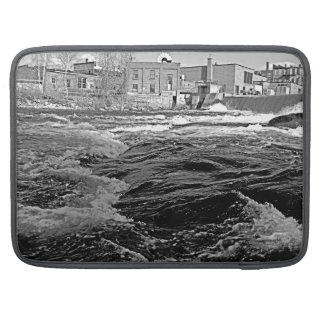 Industrial River With Buildings Sleeve For MacBooks