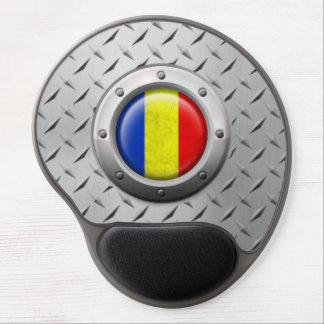 Industrial Romanian Flag with Steel Graphic Gel Mouse Pads