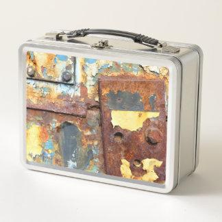 Industrial rust 785 metal lunch box