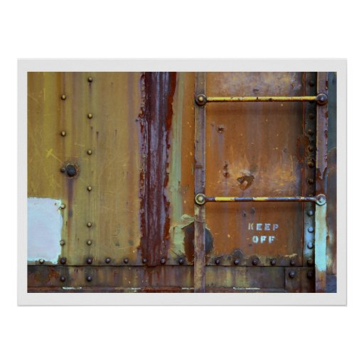 Industrial Rust: Keep Off Photography Print