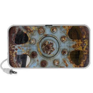 Industrial Rust: Spokes Photography Laptop Speakers