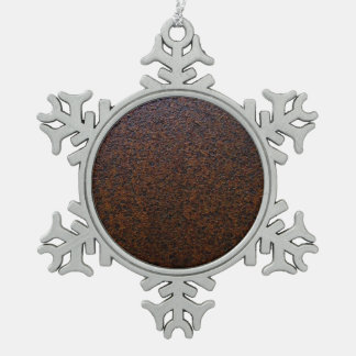 Industrial Rust Texture Base Layer Customizable Snowflake Pewter Christmas Ornament