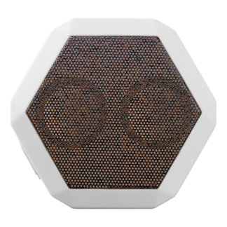 Industrial Rust Texture Base Layer Customizable White Bluetooth Speaker