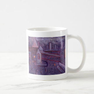 INDUSTRIAL SCENE WITH A CROOKED SPIRE COFFEE MUG
