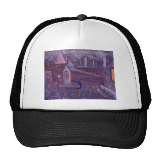 INDUSTRIAL SCENE WITH A CROOKED SPIRE TRUCKER HAT