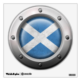 Industrial Scottish Flag with Steel Graphic Wall Decal
