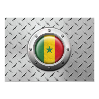 Industrial Senegal Flag with Steel Graphic Card