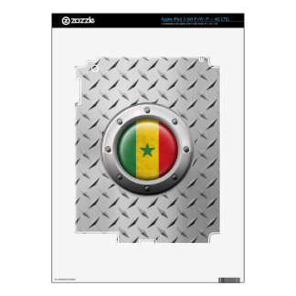 Industrial Senegal Flag with Steel Graphic Skin For iPad 3