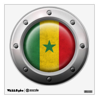 Industrial Senegal Flag with Steel Graphic Wall Decal