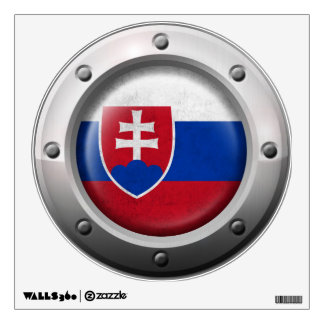 Industrial Slovakian Flag with Steel Graphic Wall Decal