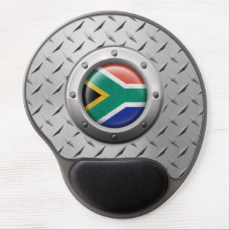 Industrial South African Flag Steel Graphic Gel Mouse Mat