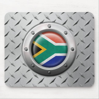 Industrial South African Flag Steel Graphic Mousepads