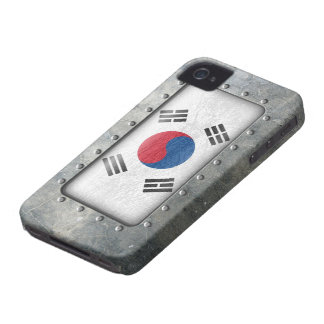 Industrial South Korean Flag iPhone 4 Cases