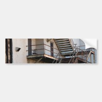 industrial stair case car bumper sticker