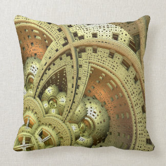 Industrial Steam Punk Cogwheels Throw Pillow