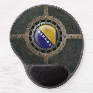 Industrial Steel Bosnia Herzegovina Flag Disc Gel Mouse Pad