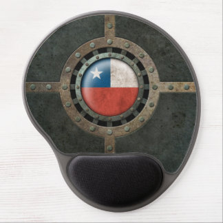 Industrial Steel Chilean Flag Disc Graphic Gel Mouse Pad