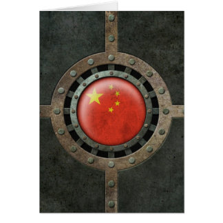 Industrial Steel Chinese Flag Disc Graphic Card