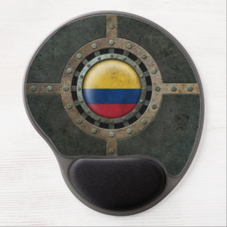 Industrial Steel Colombian Flag Disc Graphic Gel Mouse Pad