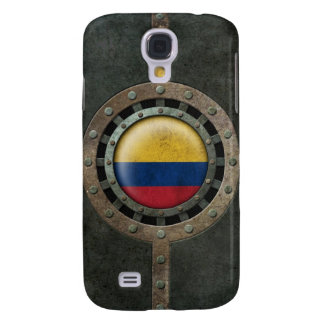 Industrial Steel Colombian Flag Disc Graphic Samsung Galaxy S4 Cover