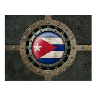 Industrial Steel Cuban Flag Disc Graphic Postcard