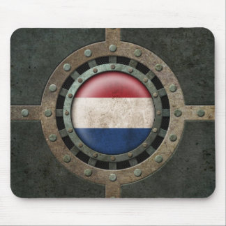 Industrial Steel Dutch Flag Disc Graphic Mouse Pad