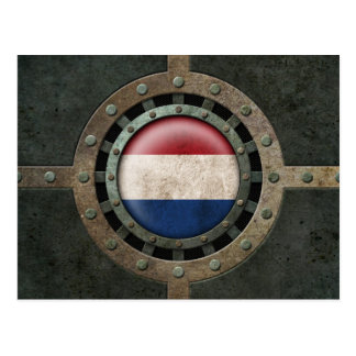 Industrial Steel Dutch Flag Disc Graphic Postcard