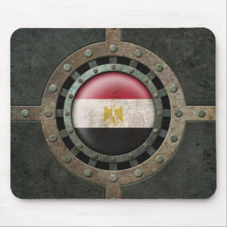 Industrial Steel Egyptian Flag Disc Graphic Mouse Pad