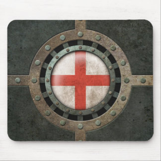 Industrial Steel English Flag Disc Graphic Mouse Pad